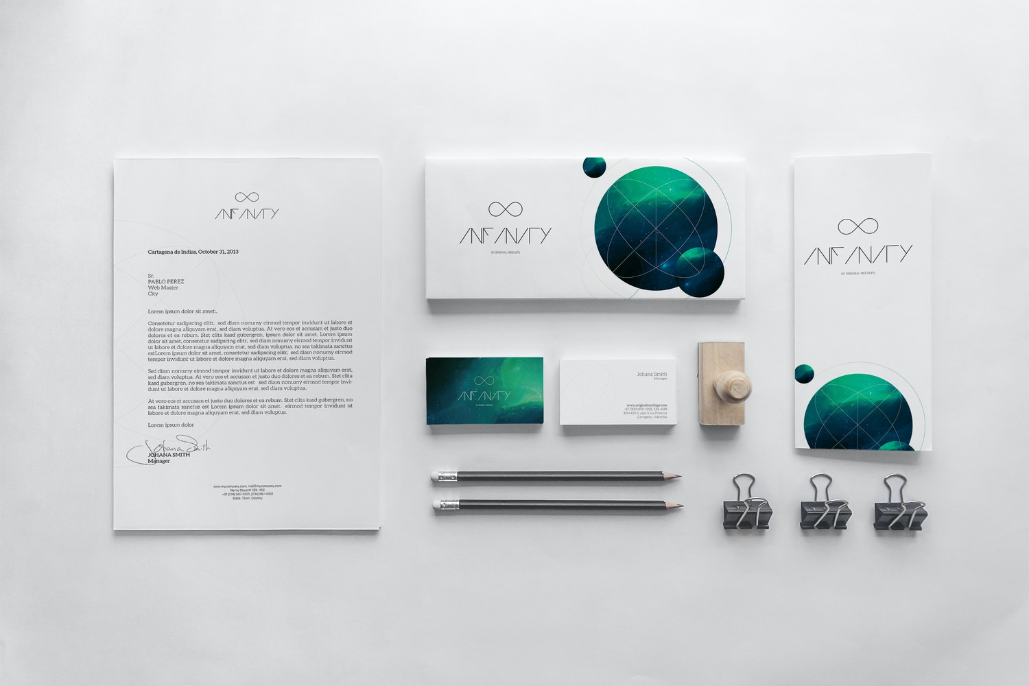 Stationery Mockup 9 by Original Mockups on Original Mockups