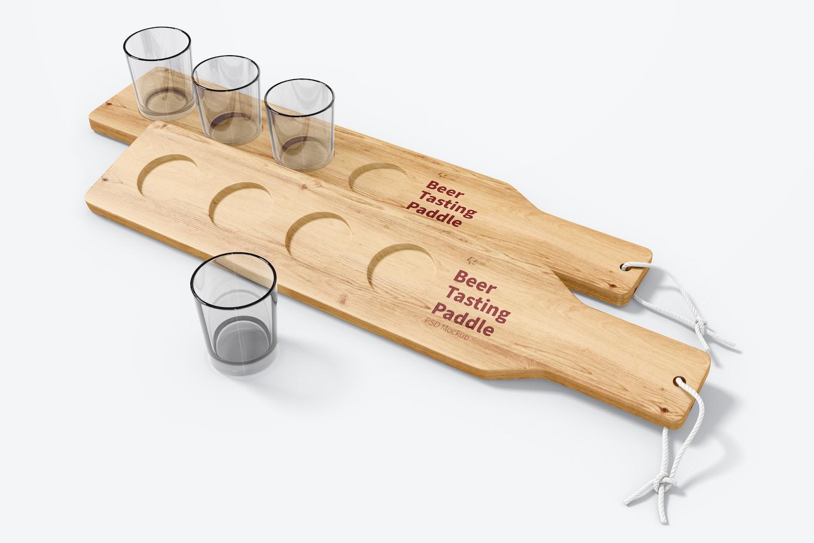 Beer Tasting Paddles Mockup, Perspective