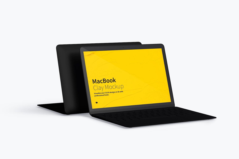 Clay MacBook Mockup