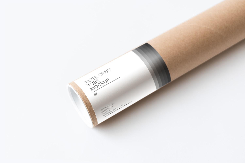 Paper Craft Tube Mockup 02