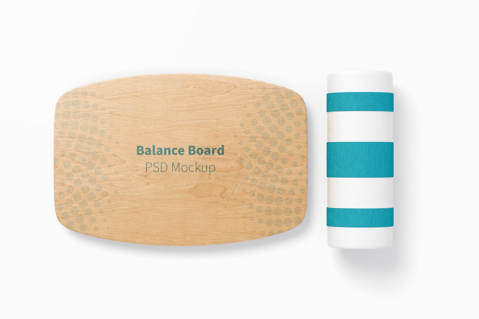 Balance Board Mockup, Top View