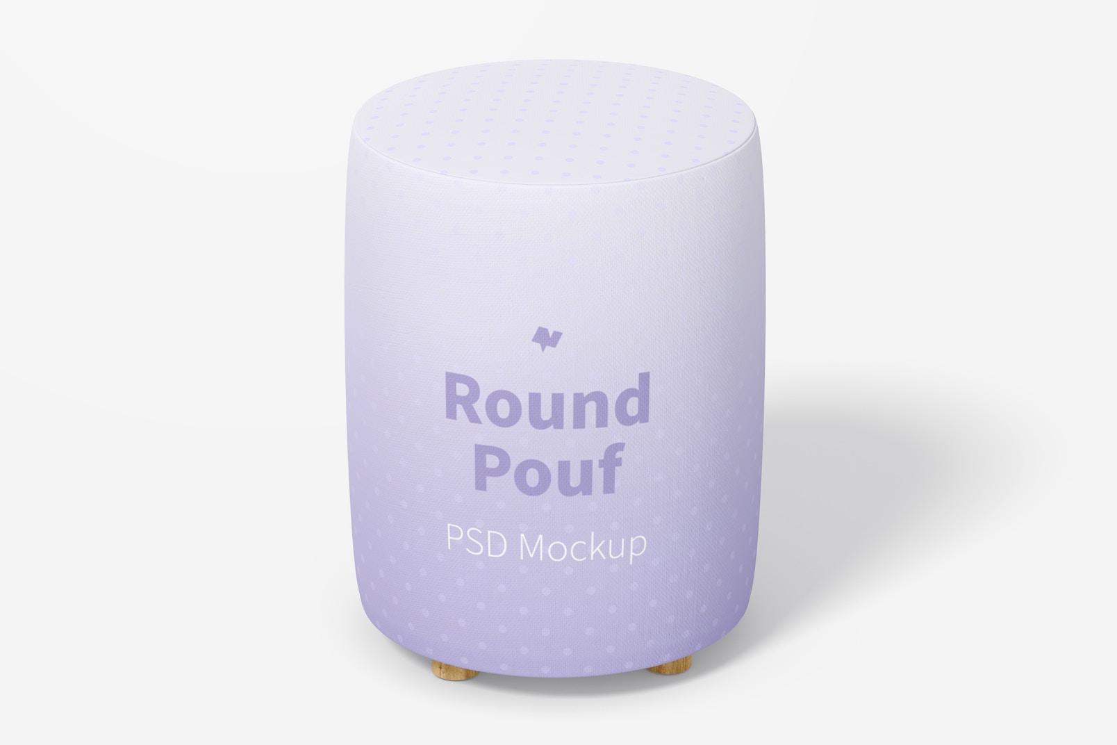 Round Pouf Mockup