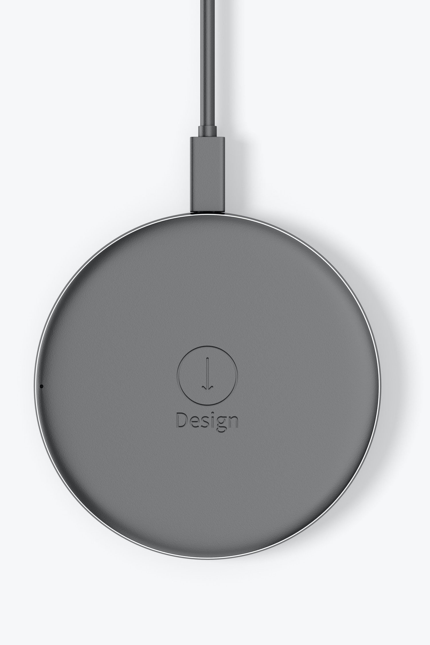 Wireless Charger Mockup, Top View