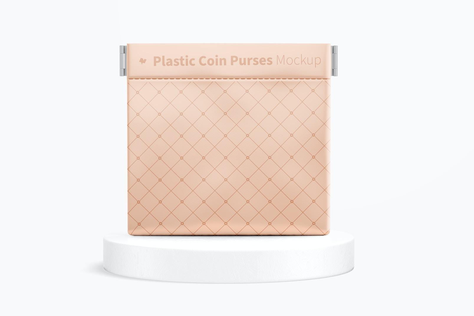 Maqueta de Monedero Plástico, Vista Frontal
