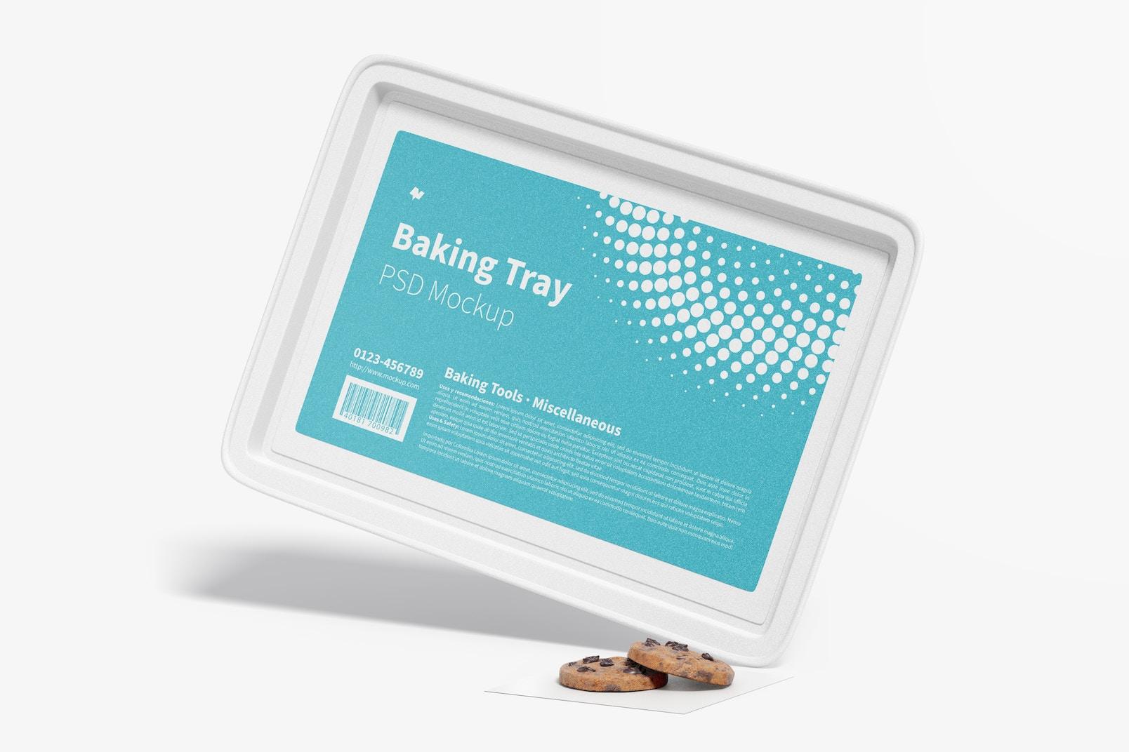 Baking Tray Mockup, Leaned