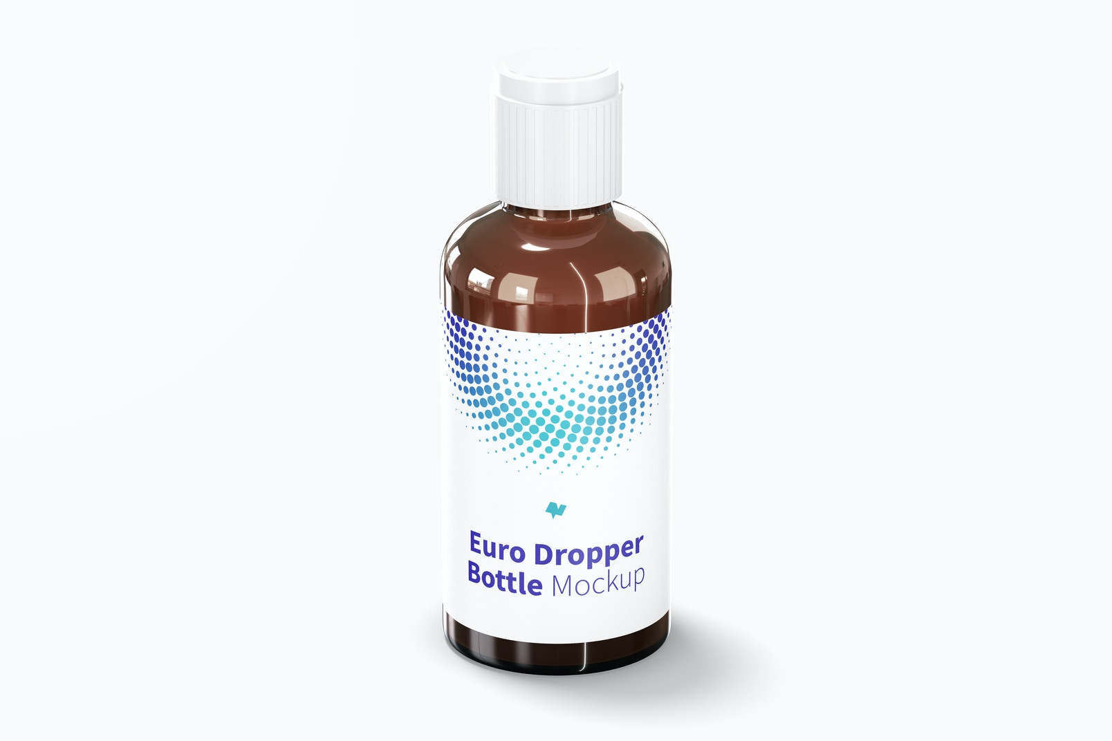 Euro Dropper Bottle with Orifice Reducers Mockup
