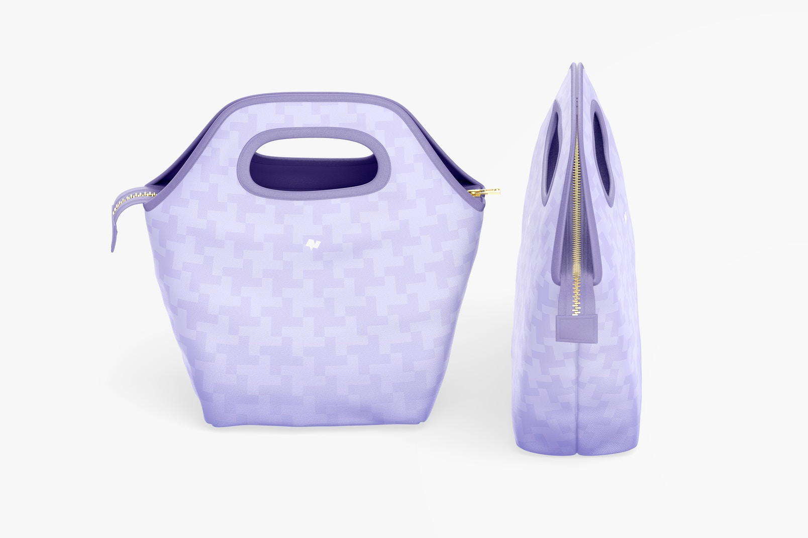 Lunch Bag Mockup, Isometric View