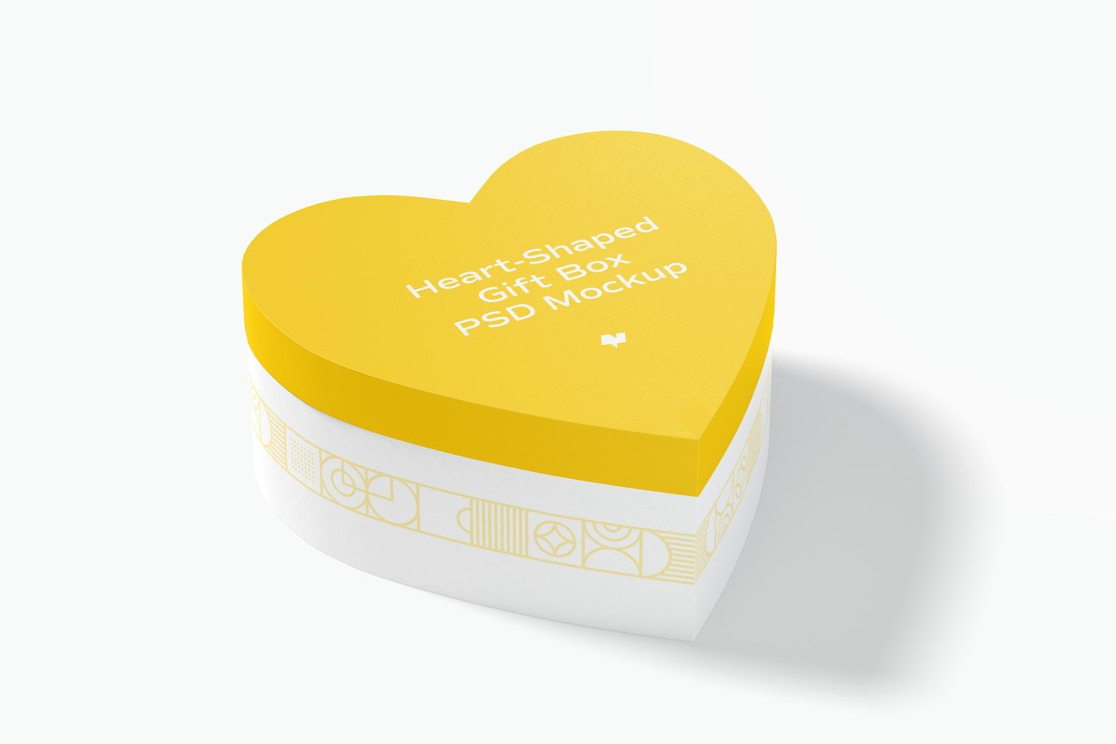 Heart-Shaped Gift Box Mockup