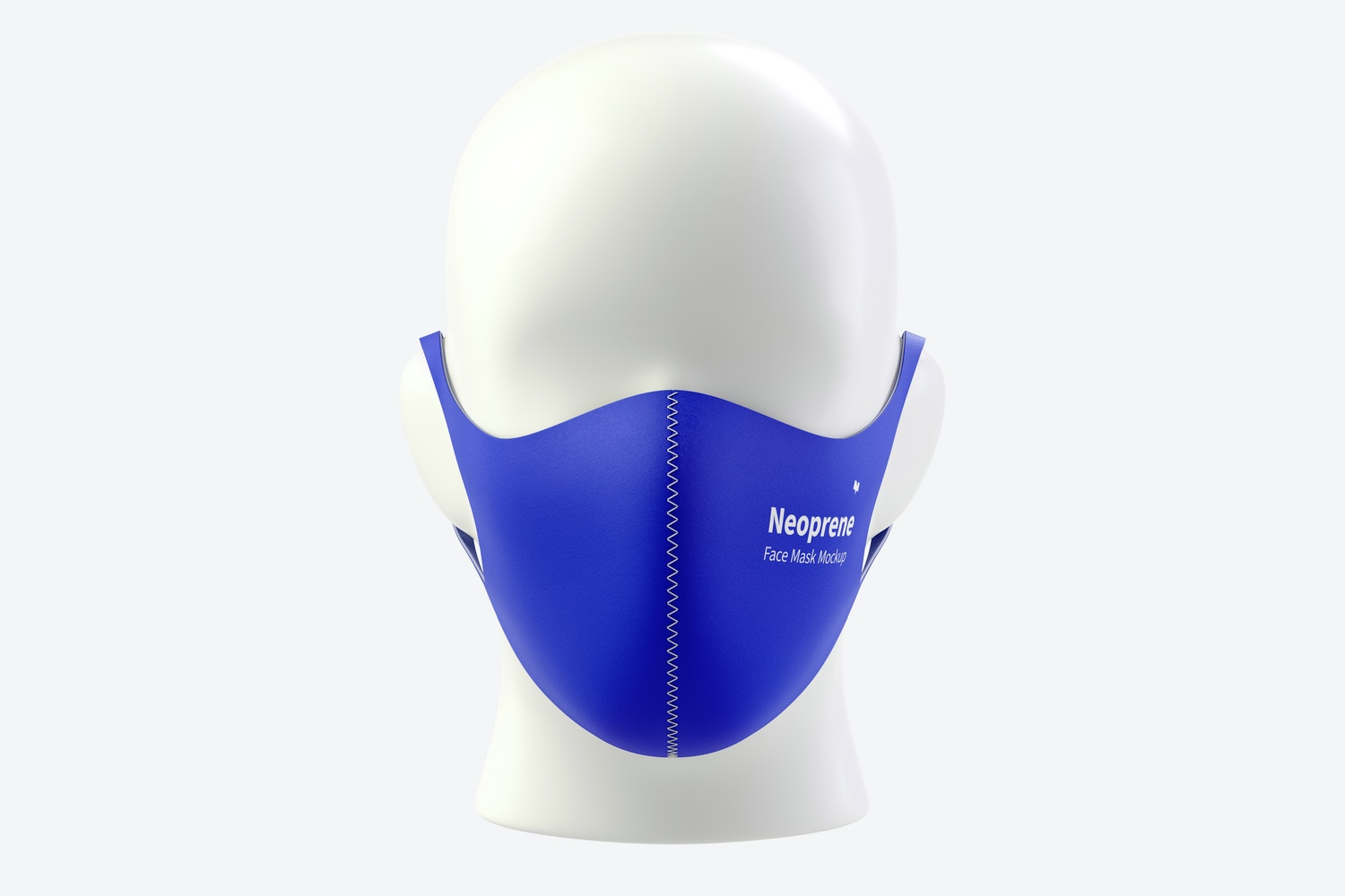 Neoprene Guard Face Mask Mockup, Front View