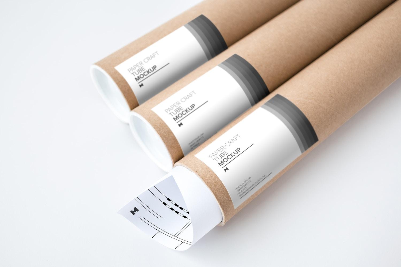 Paper Craft Tube Mockup 01 by Original Mockups on Original Mockups