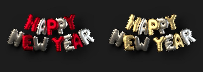 3D Christmas Balloon Words (3) por Original Mockups en Original Mockups