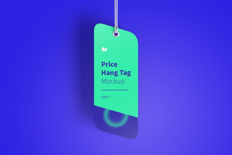 Price Hang Tag Mockup with String