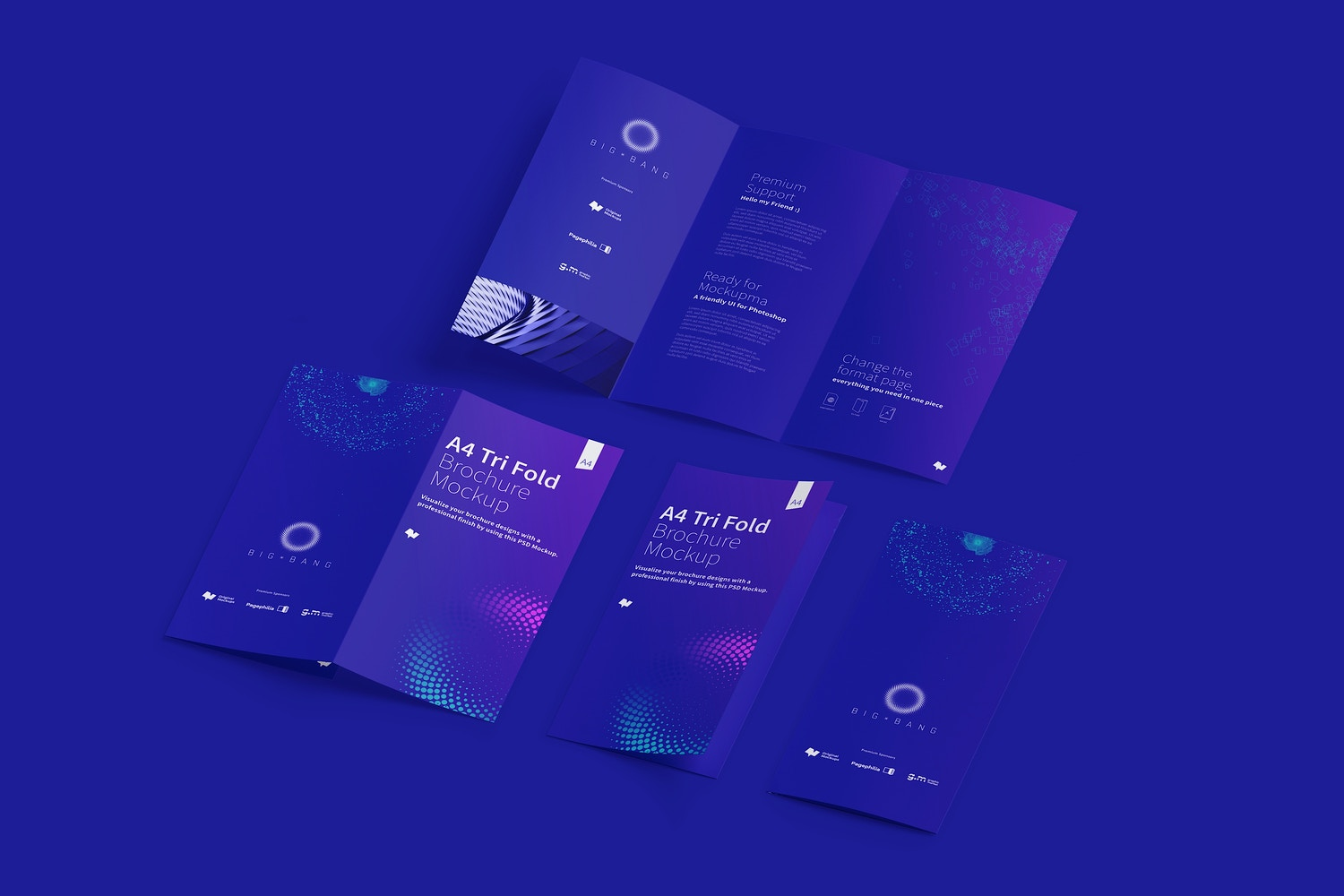 A4 Trifold Brochure Mockup 05 (5) by Original Mockups on Original Mockups