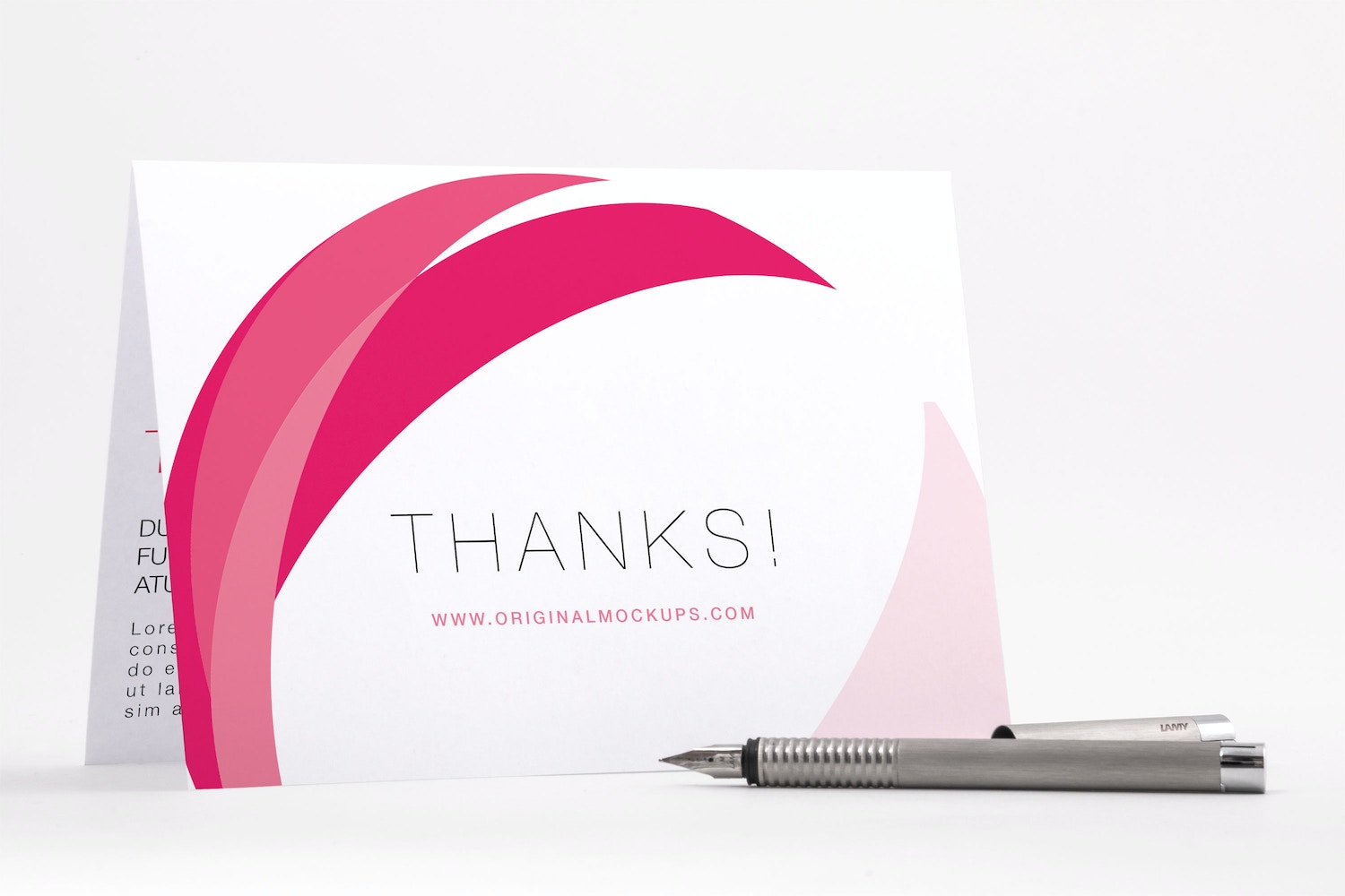 Bifold Thank You Card PSD Mockup 04 by Original Mockups on Original Mockups