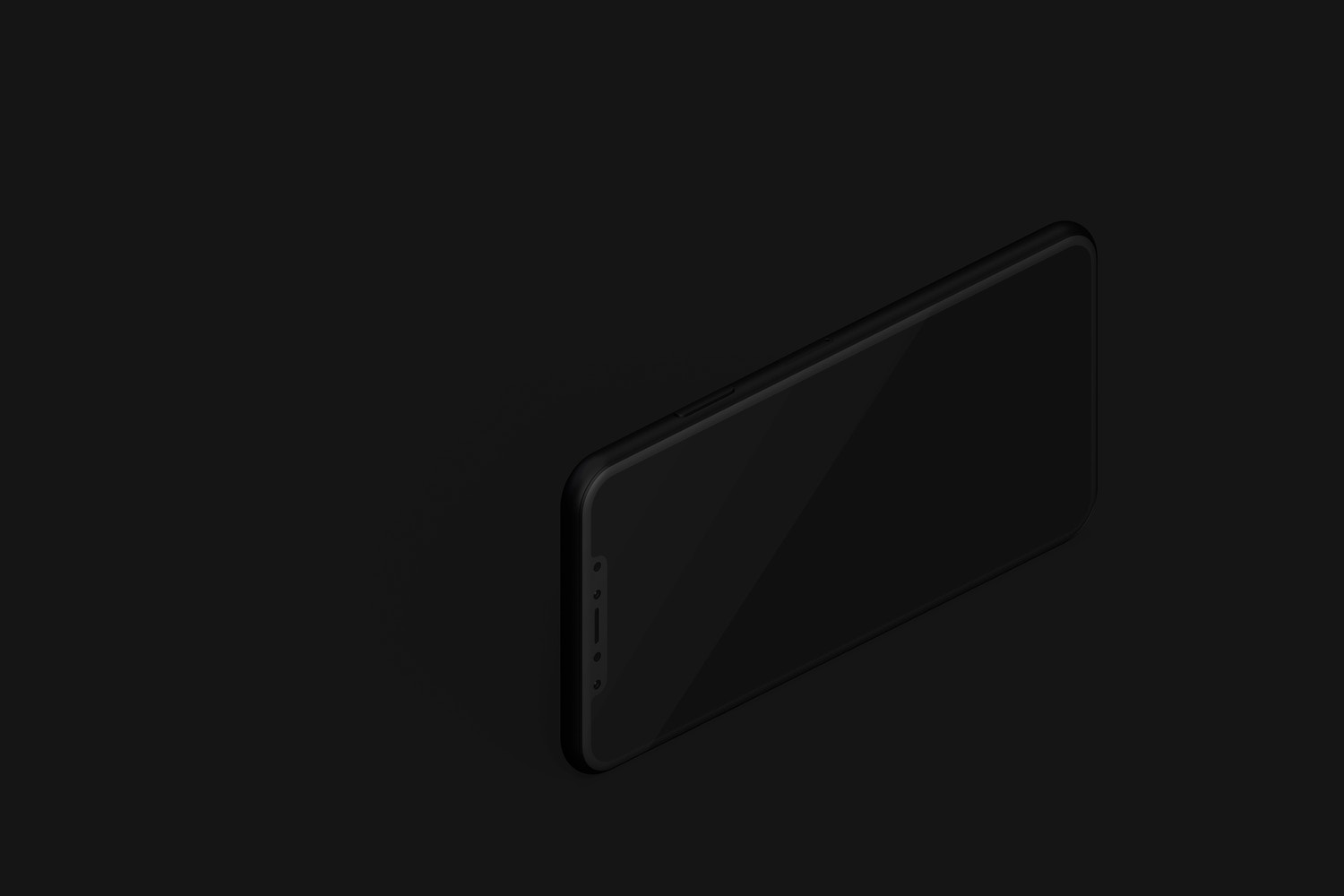 Isometric Clay iPhone XS Max Mockup, Left View 03 (3) by Original Mockups on Original Mockups