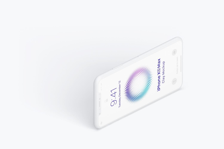 Maqueta de iPhone Xs Max, Vista Izquierda 03 (1) por Original Mockups en Original Mockups