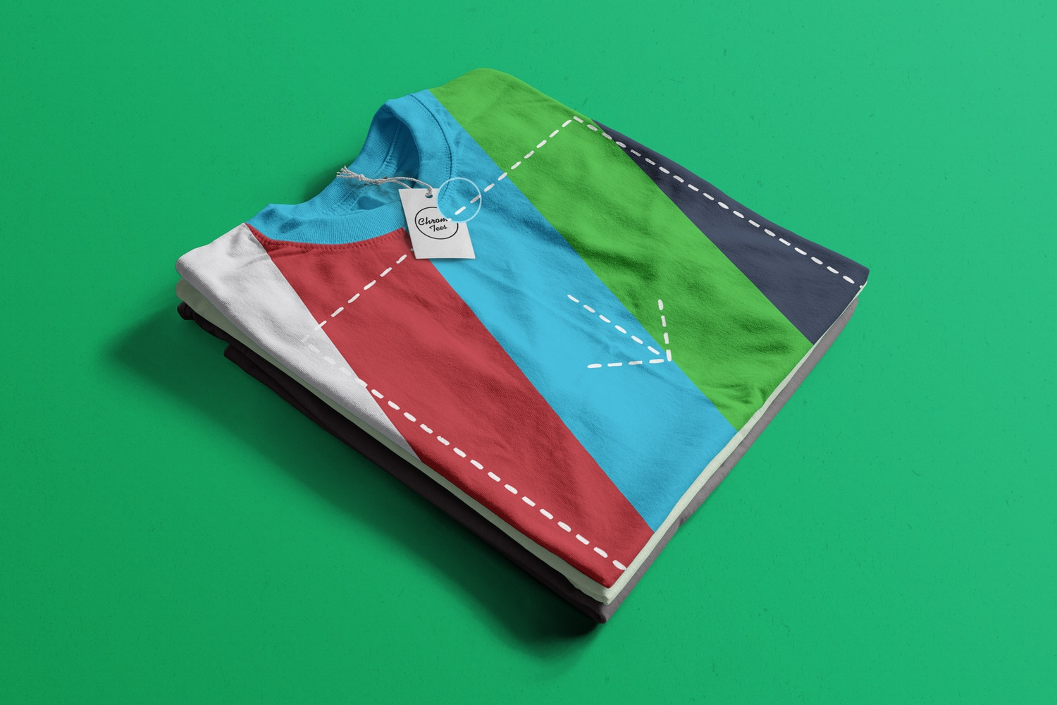 Stack of Folded T-Shirts Mockup 04 (2) by Antonio Padilla on Original Mockups
