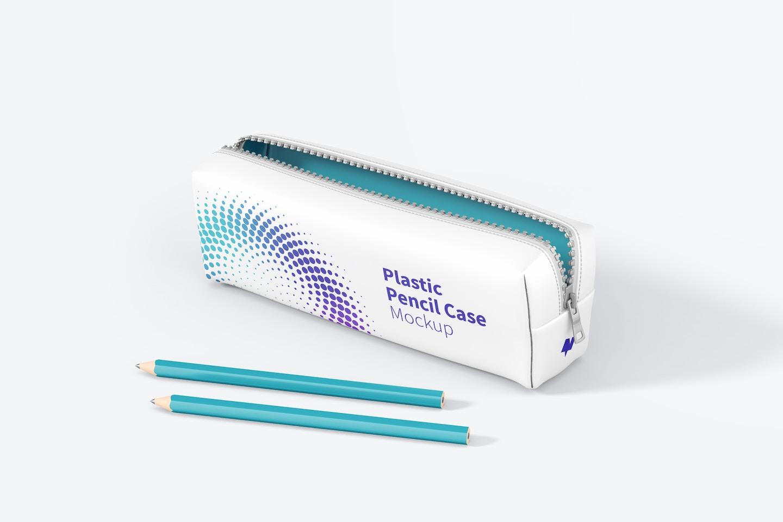 Plastic Pencil Case Mockup