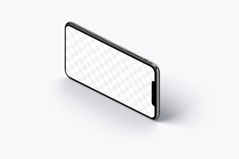 Maqueta de iPhone XS Max, Isométrico Vista Izquierda 03 (2) por Original Mockups en Original Mockups