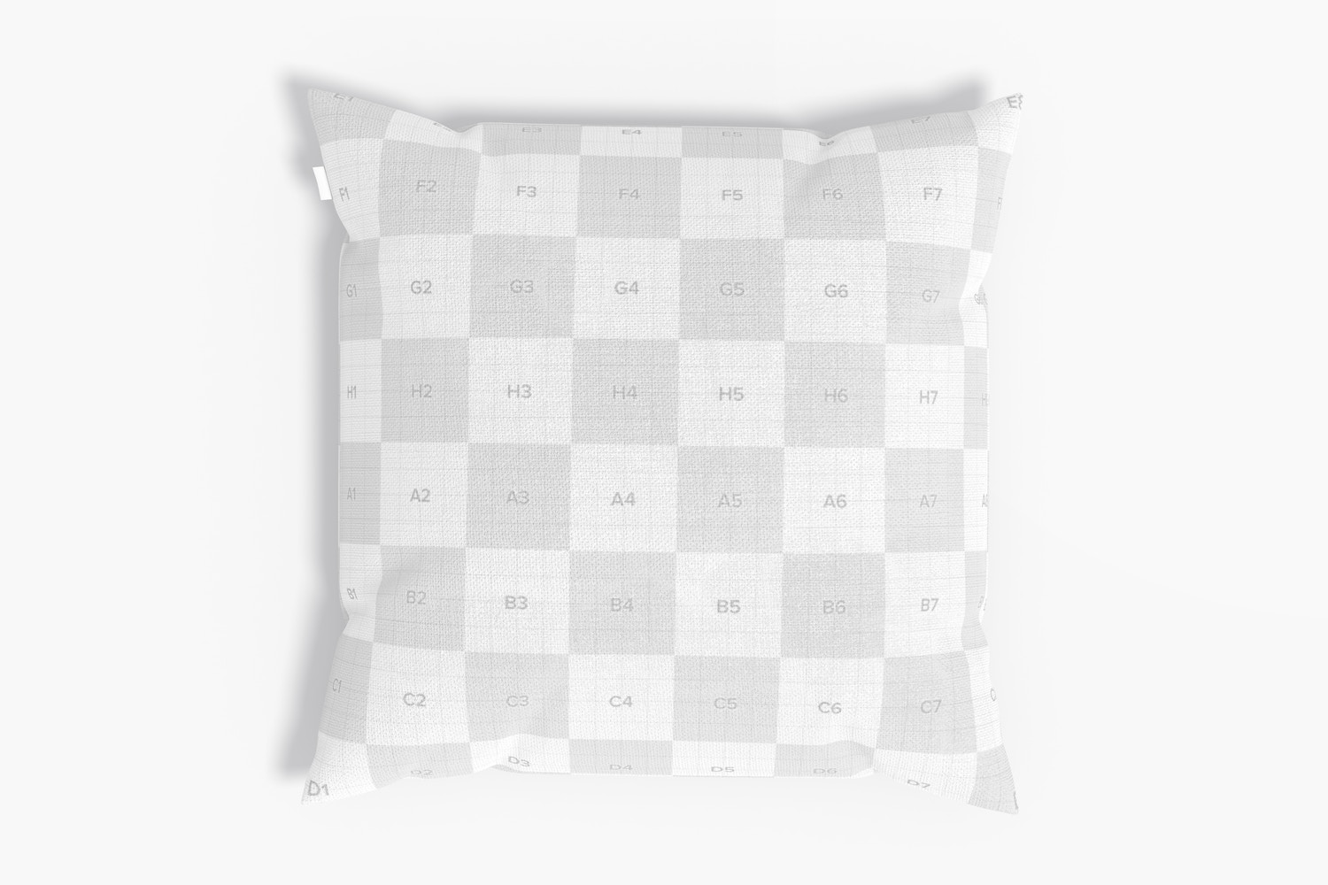 Square Pillow Mockup, Top View