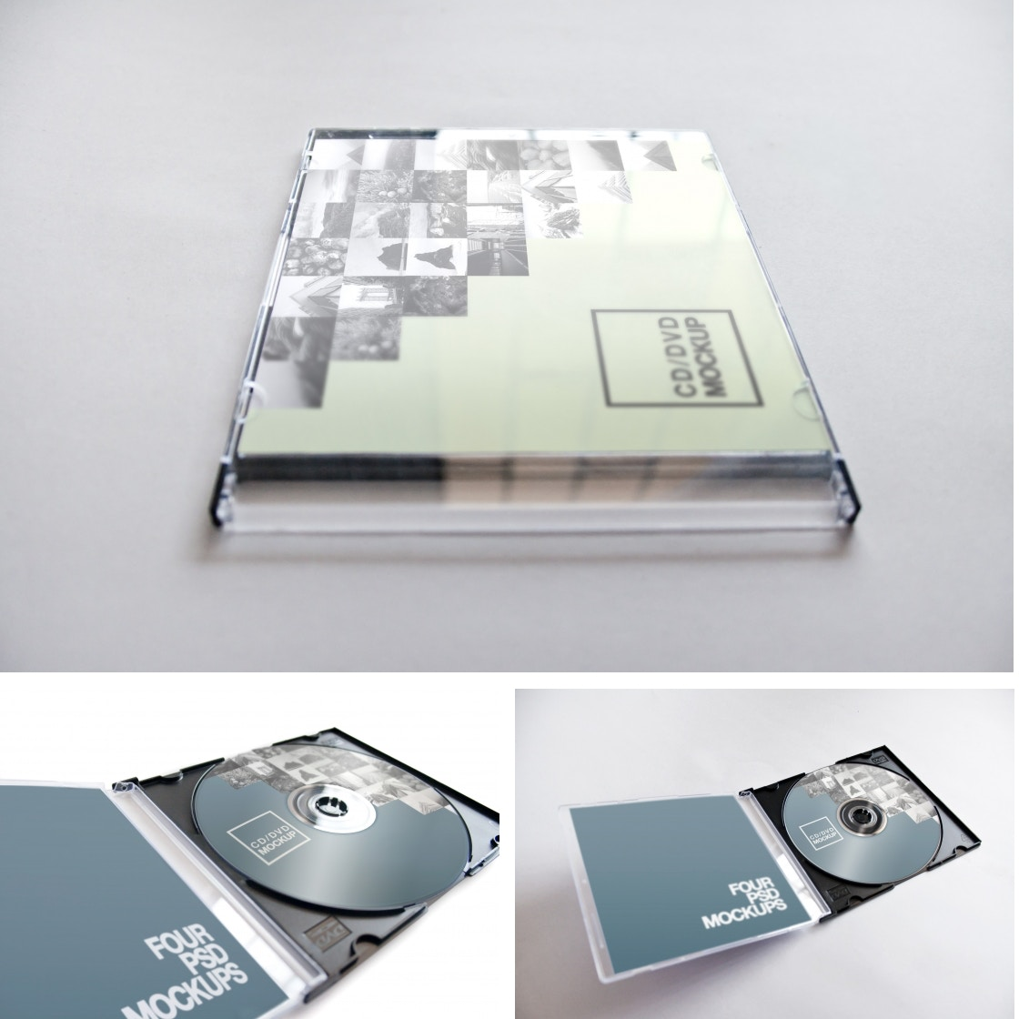 CD-DVD Jewel Case Mockups by Carlos Viloria on Original Mockups