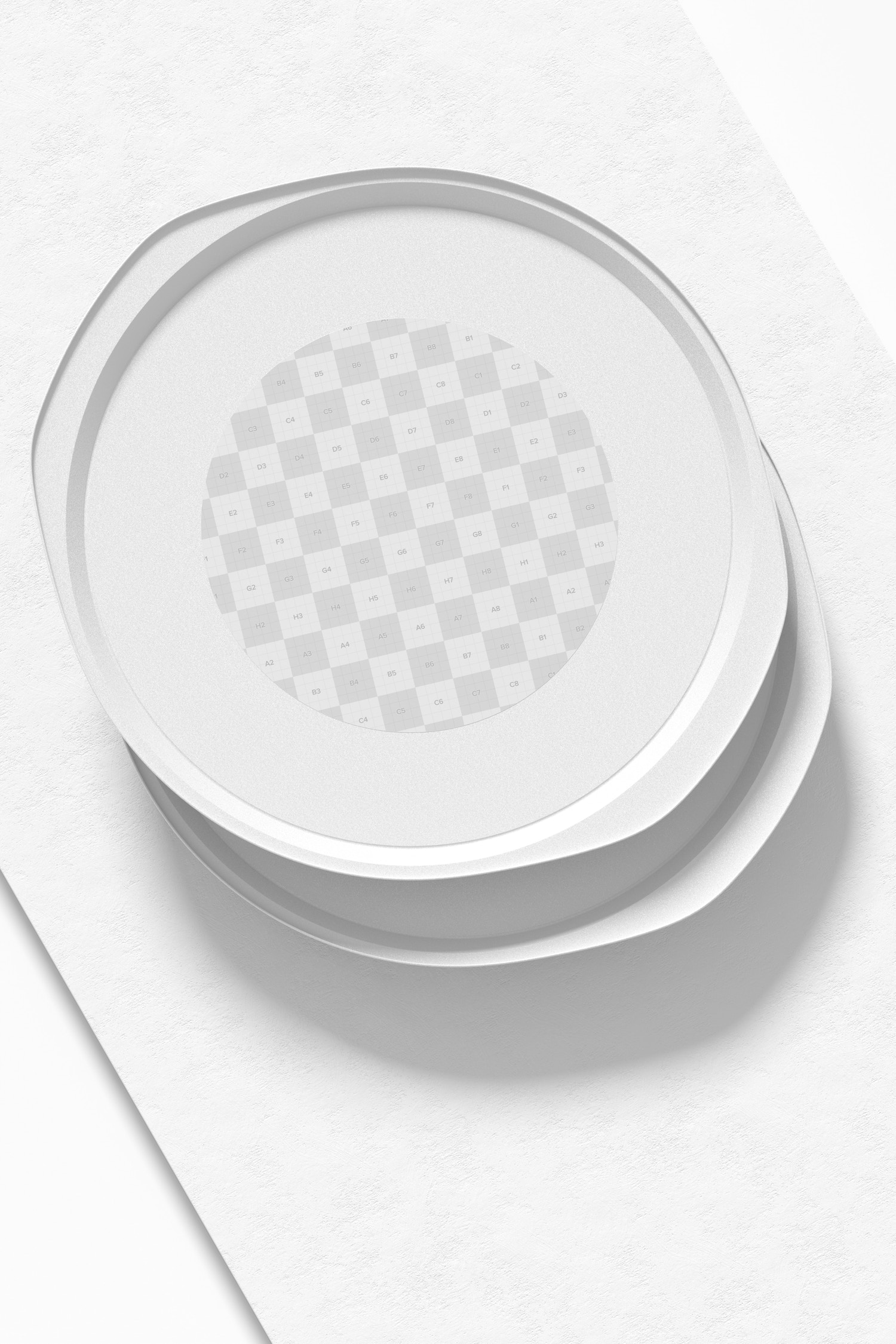 Pizza Pans Mockup, Top View
