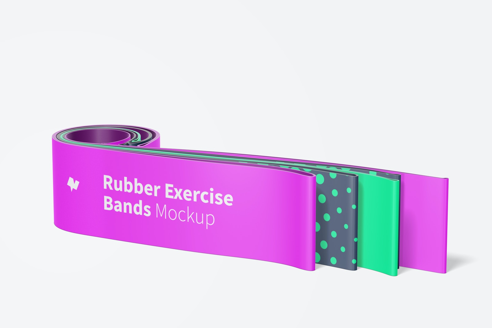 Rubber Exercise Bands Mockup