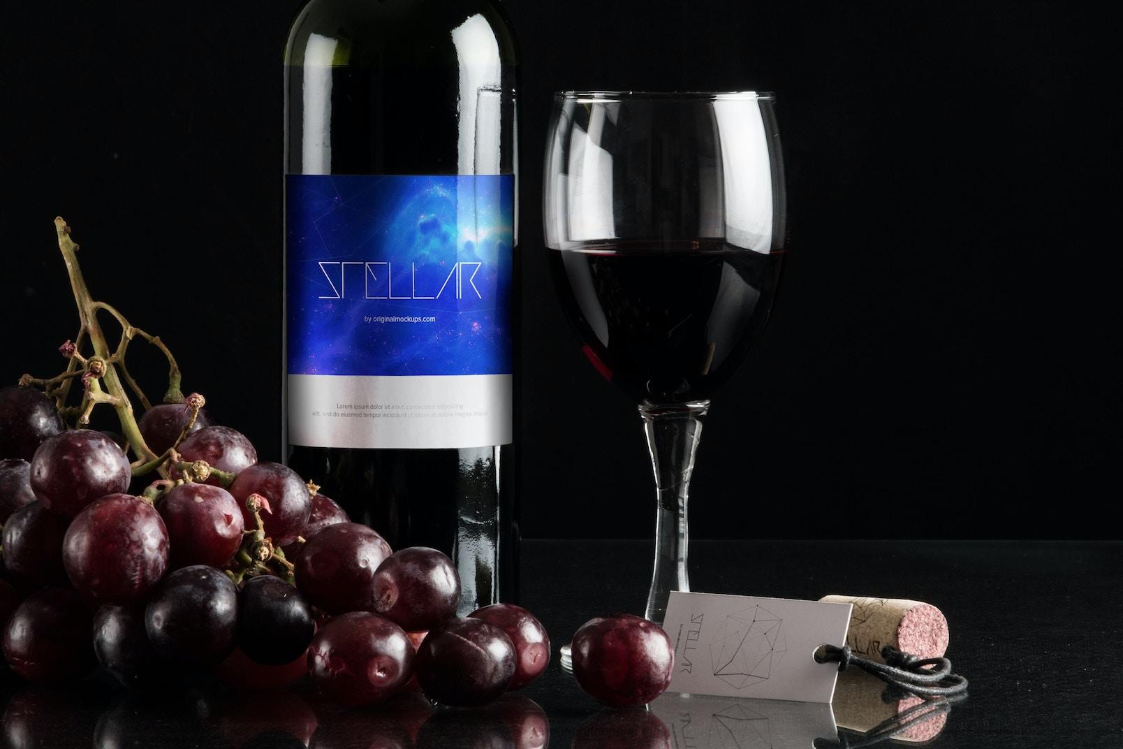 Maqueta de Botella de Vino 8