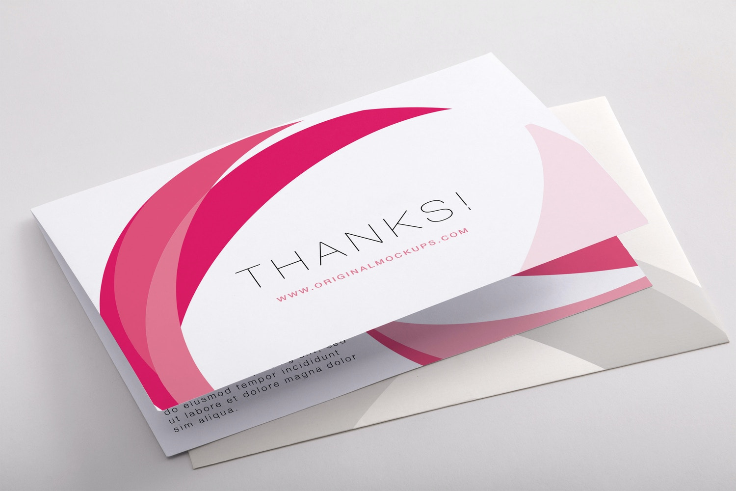 Bifold Thank You Card PSD Mockup 03 by Original Mockups on Original Mockups