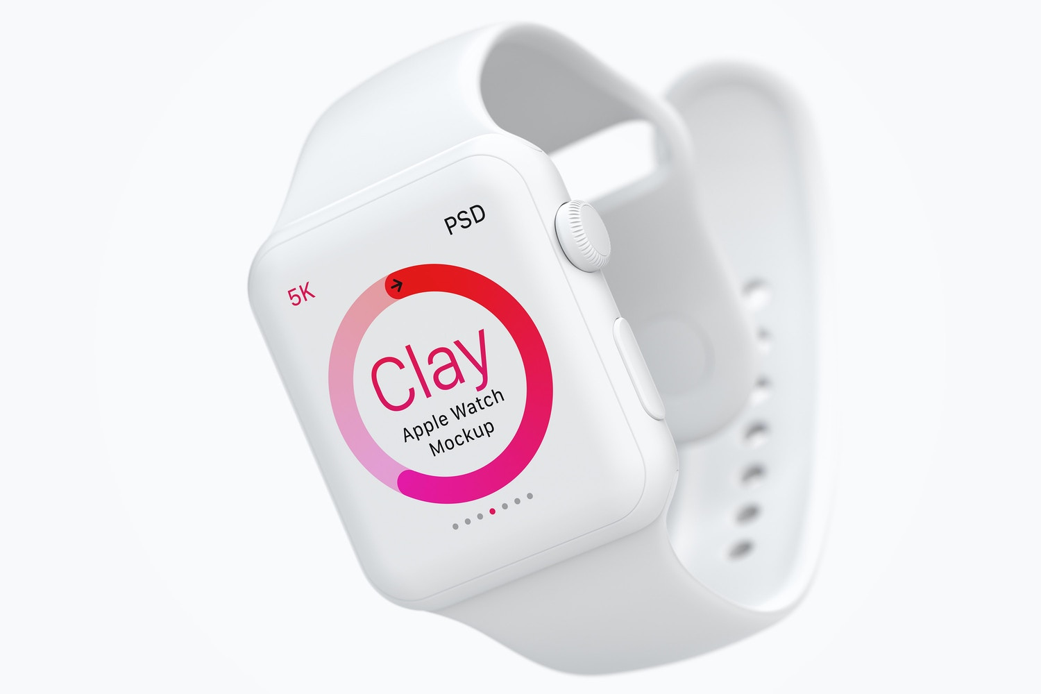 Clay Apple Watch Mockup 02 by Original Mockups on Original Mockups