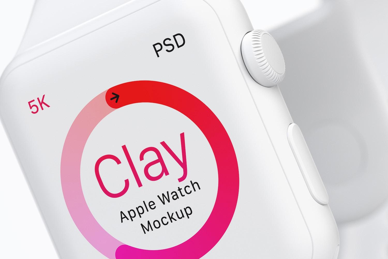 Clay Apple Watch Mockup 02