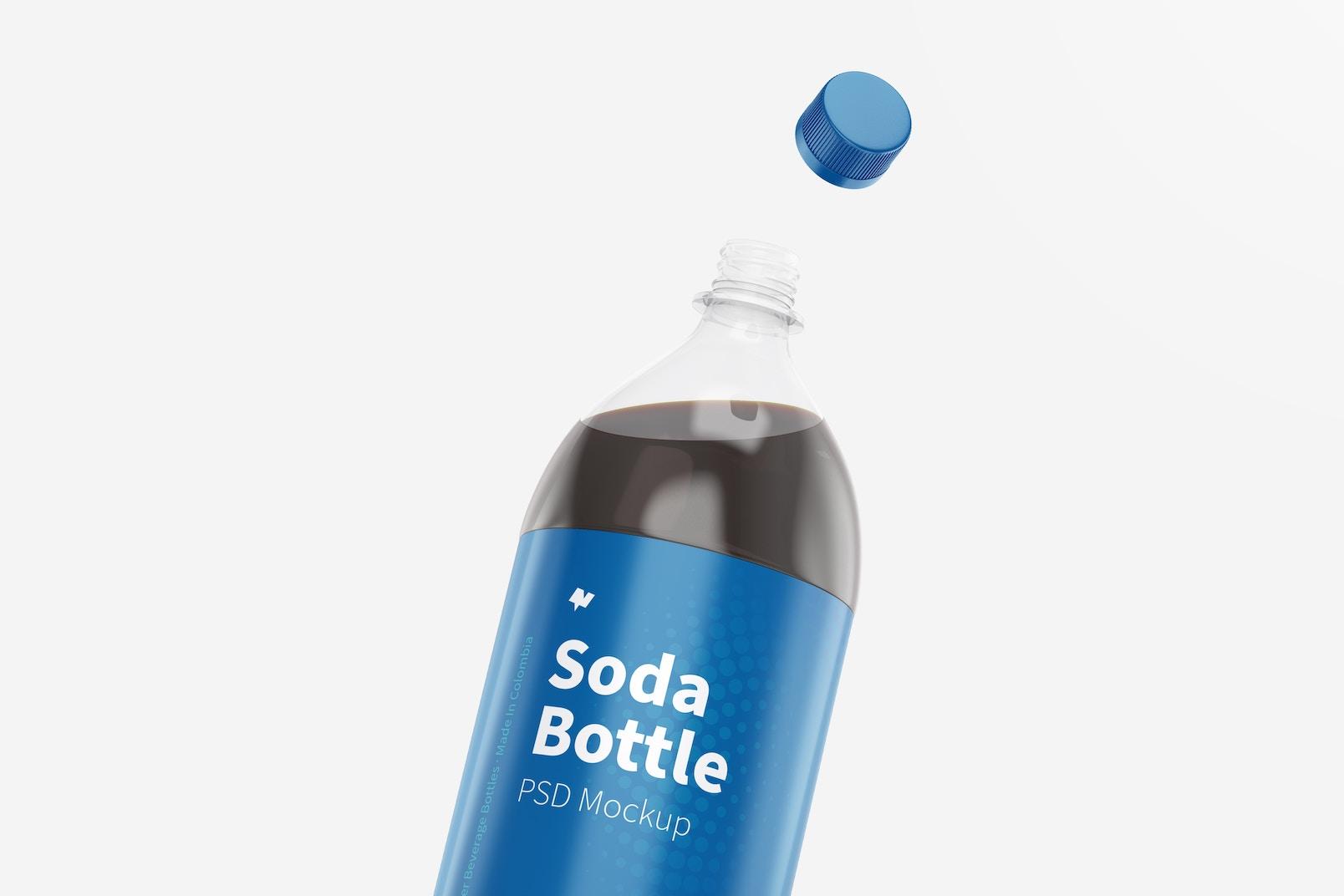 1.5L Pepsi Bottles Mockup, Close Up
