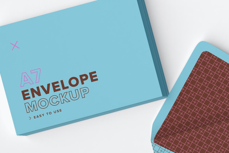 A7 Envelope Stacks Mockup 02