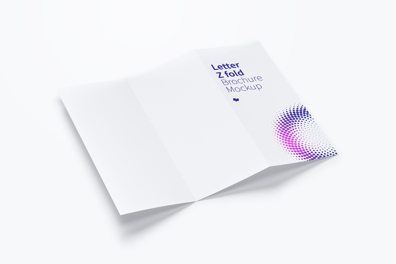 Letter Z Fold Brochure Mockup 02 by Original Mockups on Original Mockups
