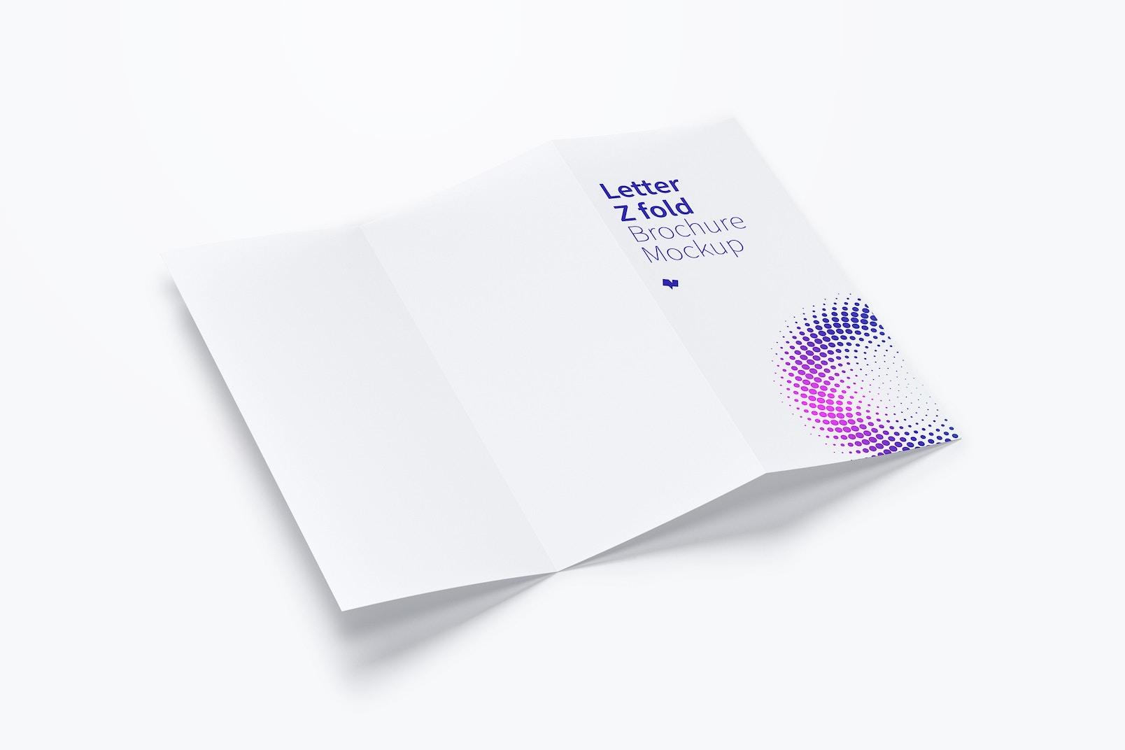 Letter Z Fold Brochure Mockup 02