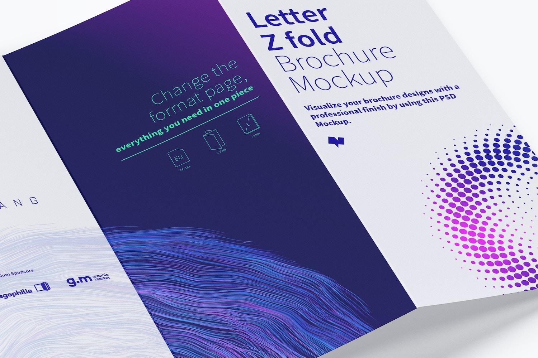 Letter Z Fold Brochure Mockup 02 (4) by Original Mockups on Original Mockups