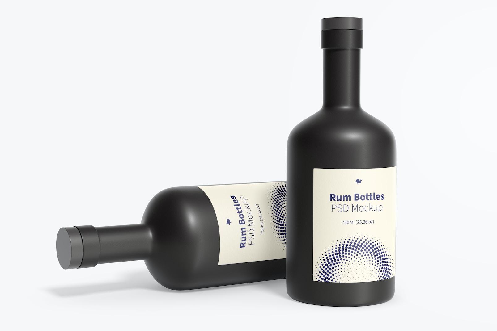 Rum Bottles Mockup