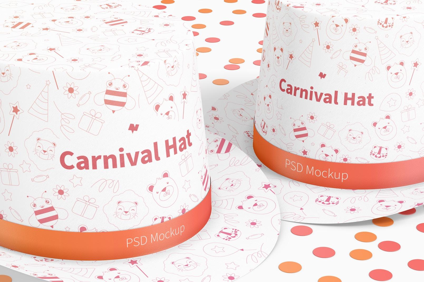 Carnival Hat Mockup, Close Up