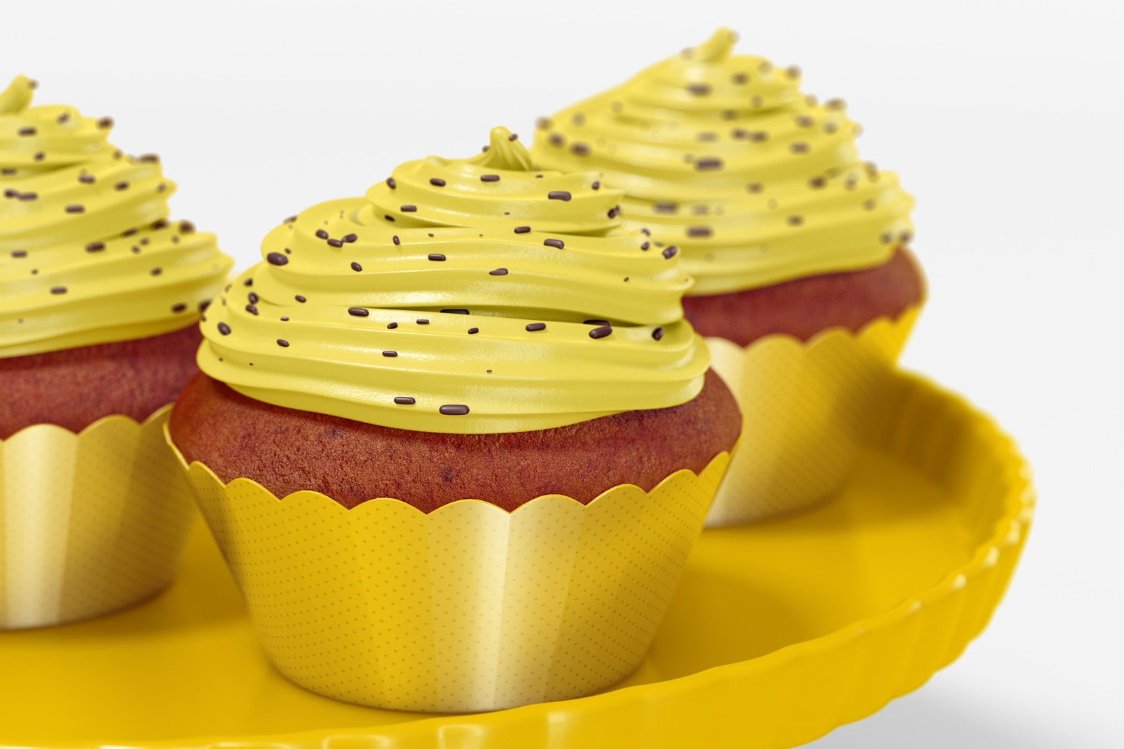 Cupcakes with Wrapper Mockup