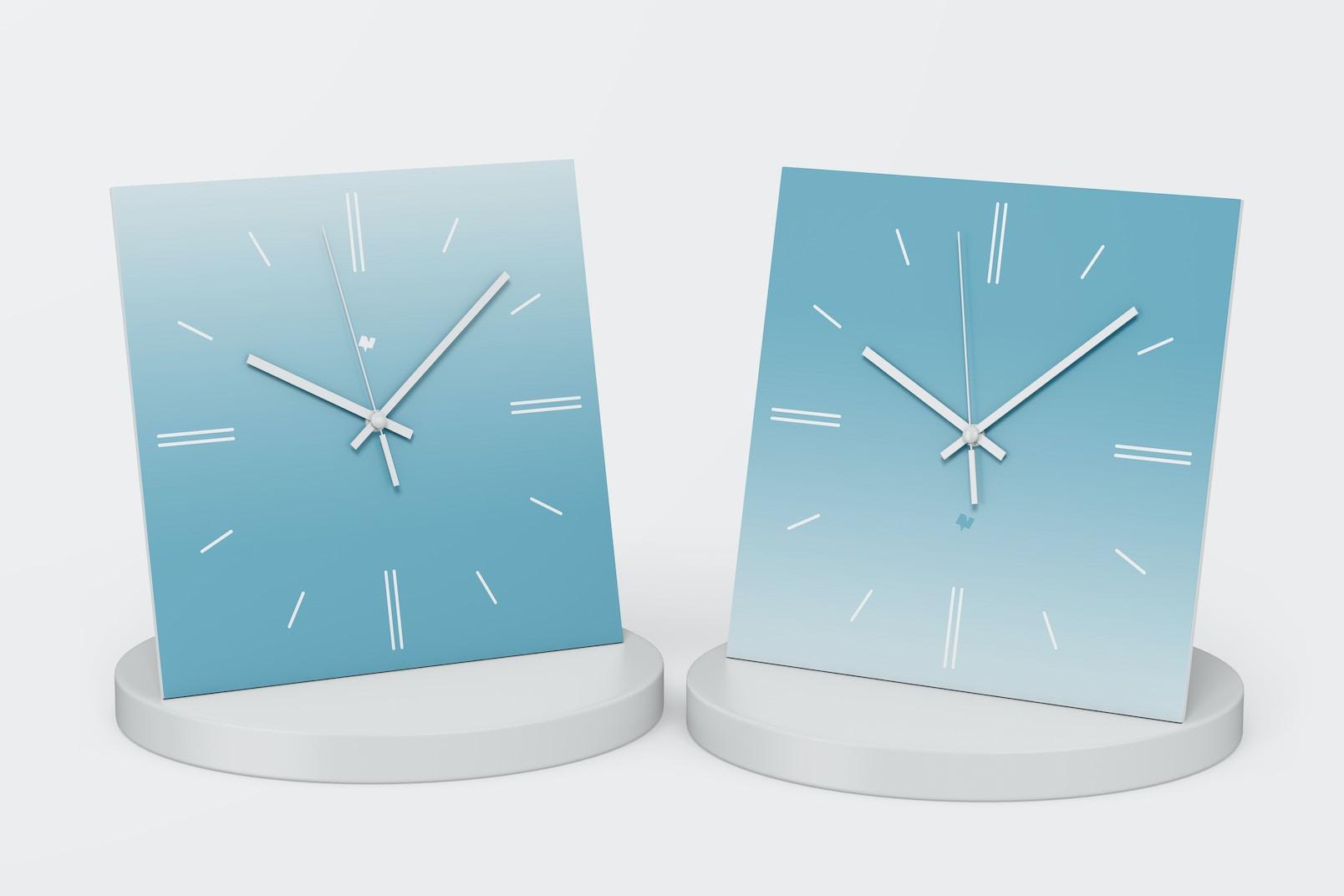 Square Wall Clocks Mockup