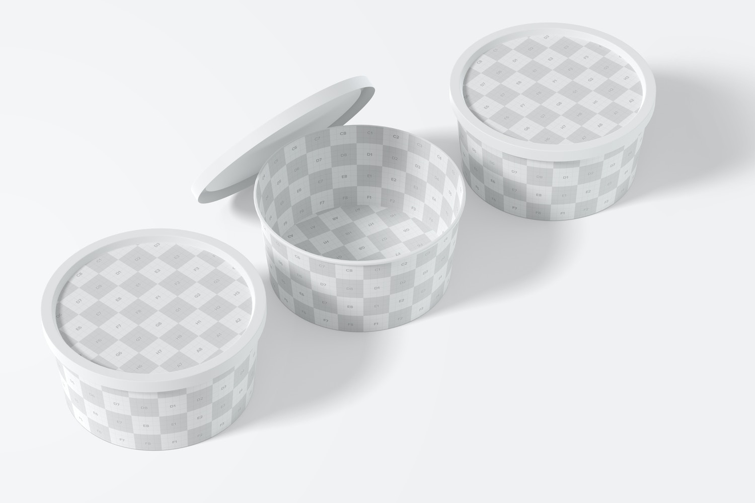 You can place your design in the lids.