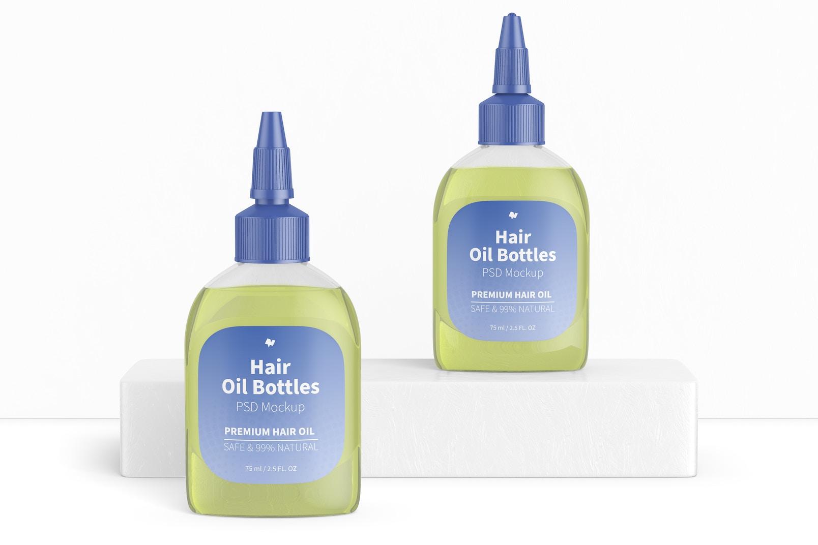 Hair Oil Bottles Mockup