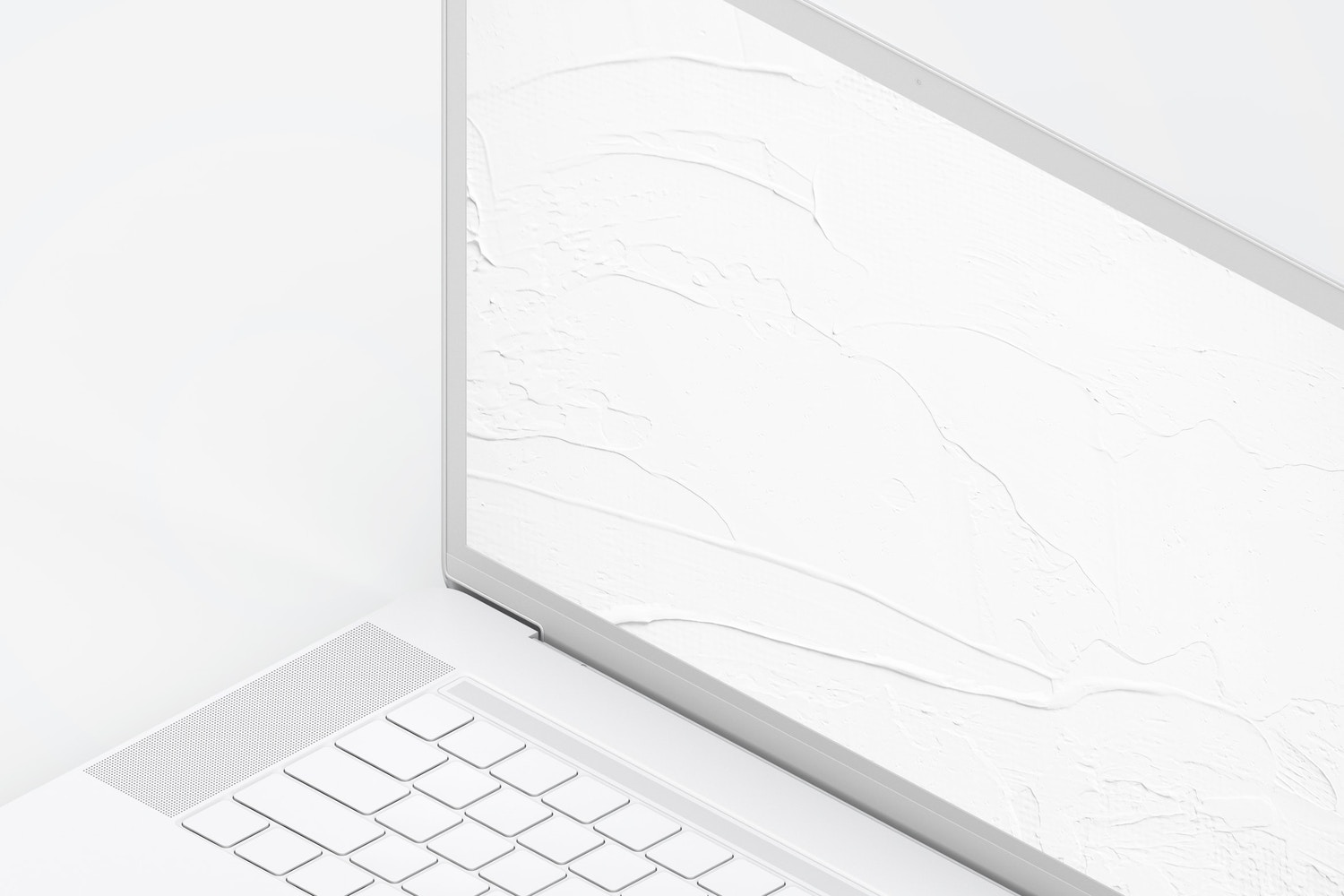 "Clay MacBook Pro 15"" with Touch Bar, Right Isometric View Mockup (3) by Original Mockups on Original Mockups"