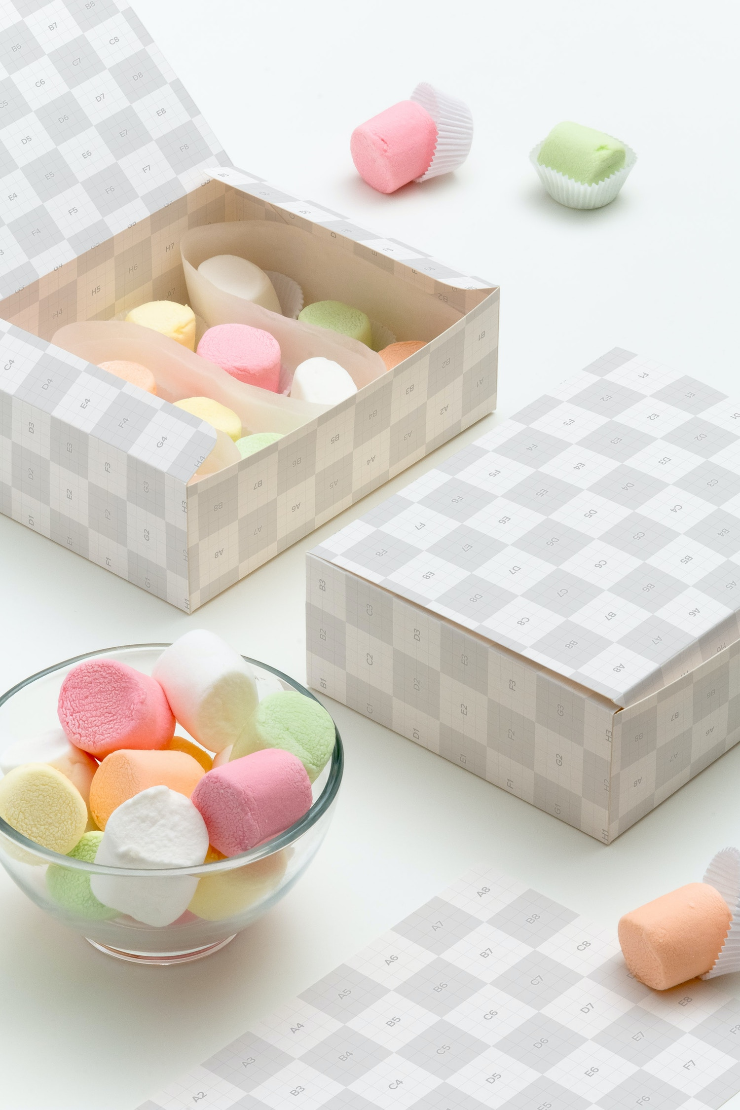 Maqueta para Caja de Dulces 04 por Ktyellow  en Original Mockups