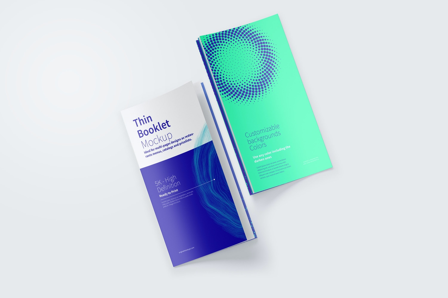 Thin Booklet Mockup 03 by Original Mockups on Original Mockups