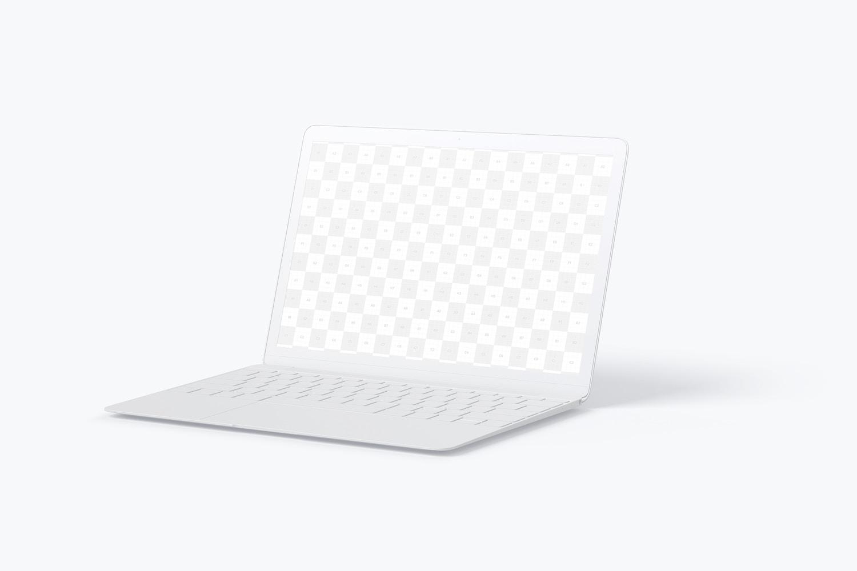 Maqueta de MacBook Multicolor, Vista Derecha (2) por Original Mockups en Original Mockups