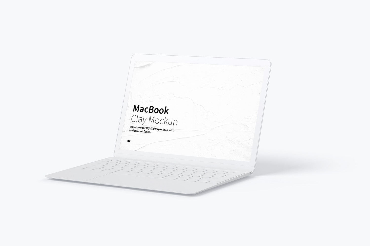 Clay MacBook Mockup, Right View