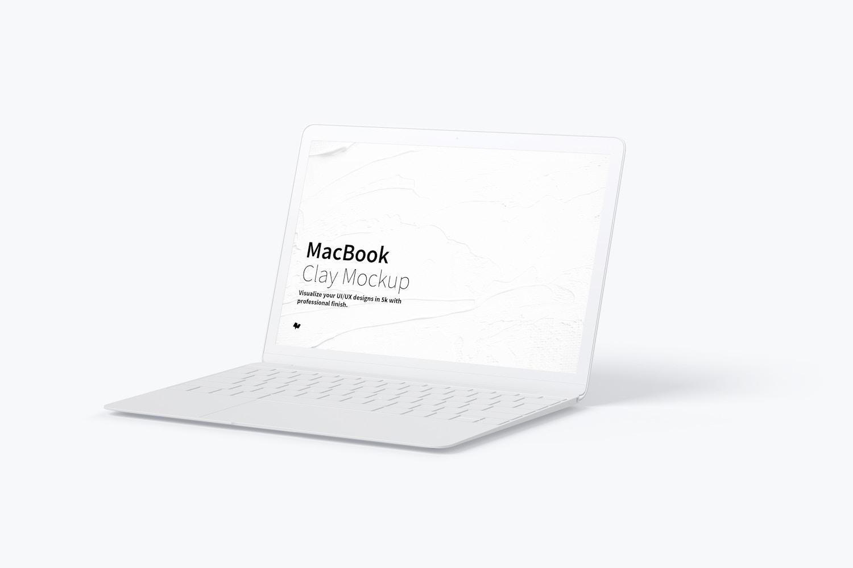 Maqueta de MacBook Multicolor, Vista Derecha (1) por Original Mockups en Original Mockups