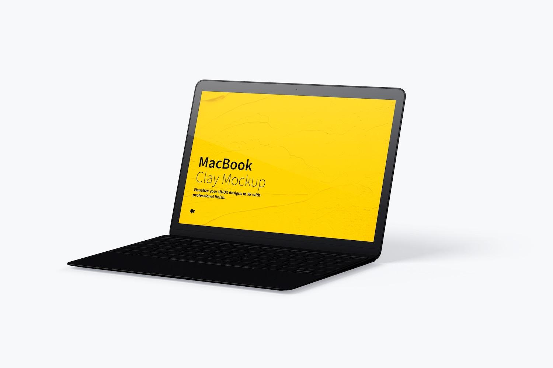 Maqueta de MacBook Multicolor, Vista Derecha (4) por Original Mockups en Original Mockups