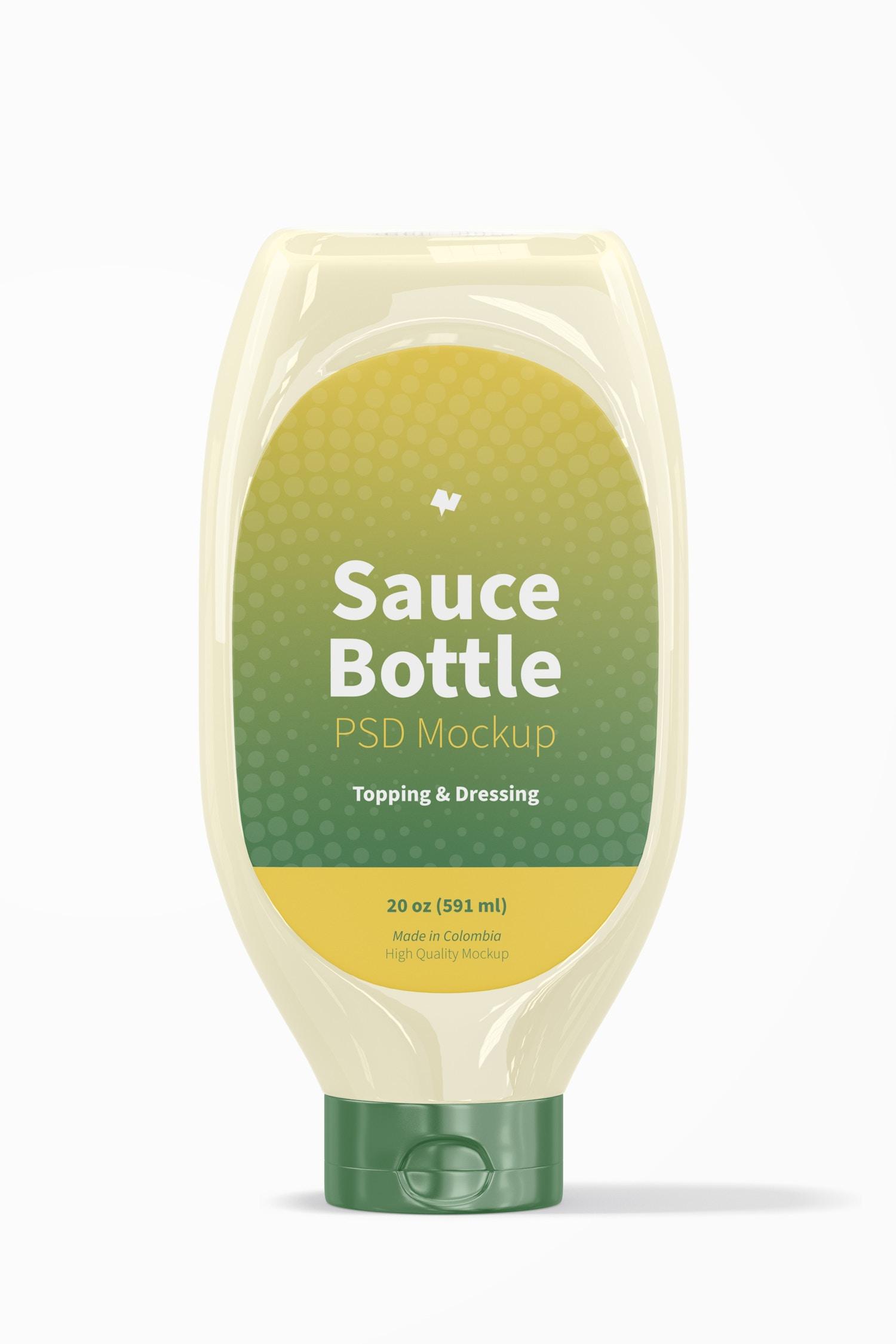 20 oz Sauce Bottle Mockup